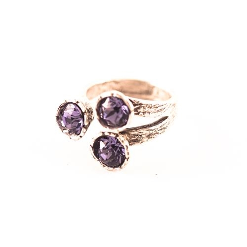 Anillo Geometric Morado | ANGEMO